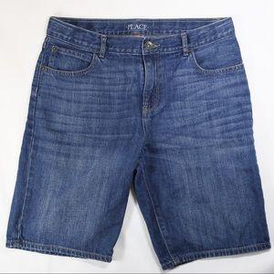 Children's Place Boys Blue Denim Shorts Size 12H